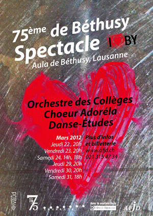 Affiche du spectacle «I Love Béthusy»