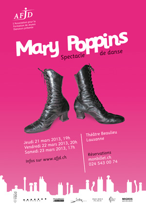 Affiche du spectacle «Mary Poppins»
