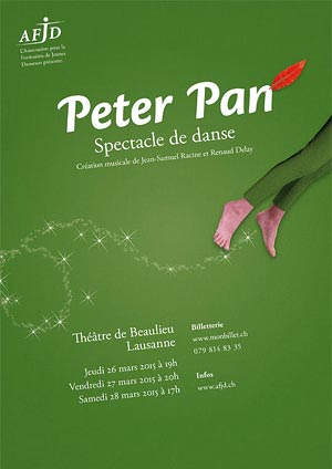 Affiche du spectacle «Peter Pan»