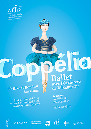 Affiche du spectacle «Coppélia